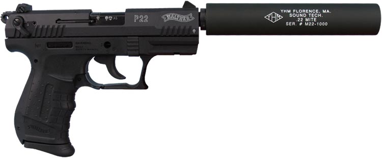 22 Handgun With Silencer http://www.semperfiarms.com/store/product/suppressors/yhm-mite-22.php
